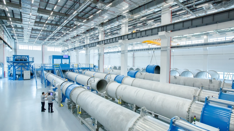 The new plant is designed for extremely large instruments with tube diameters of up to three meters.